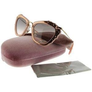MU04QS-TV14K0 Women's Pink Frame Sunglasses